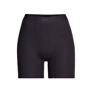 Cotton Rib Boxer in Soot