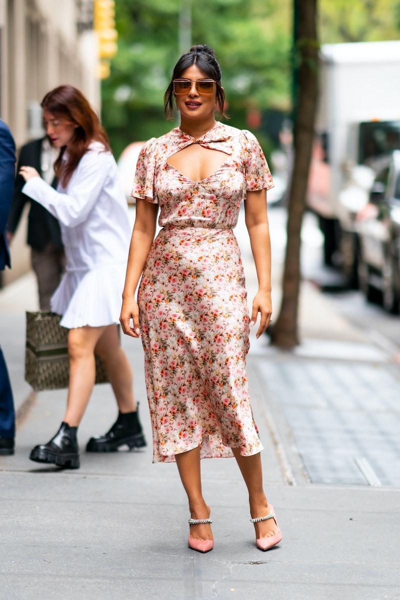 Priyanka Chopra Jonas is seen on October 8, 2019 in New York City.