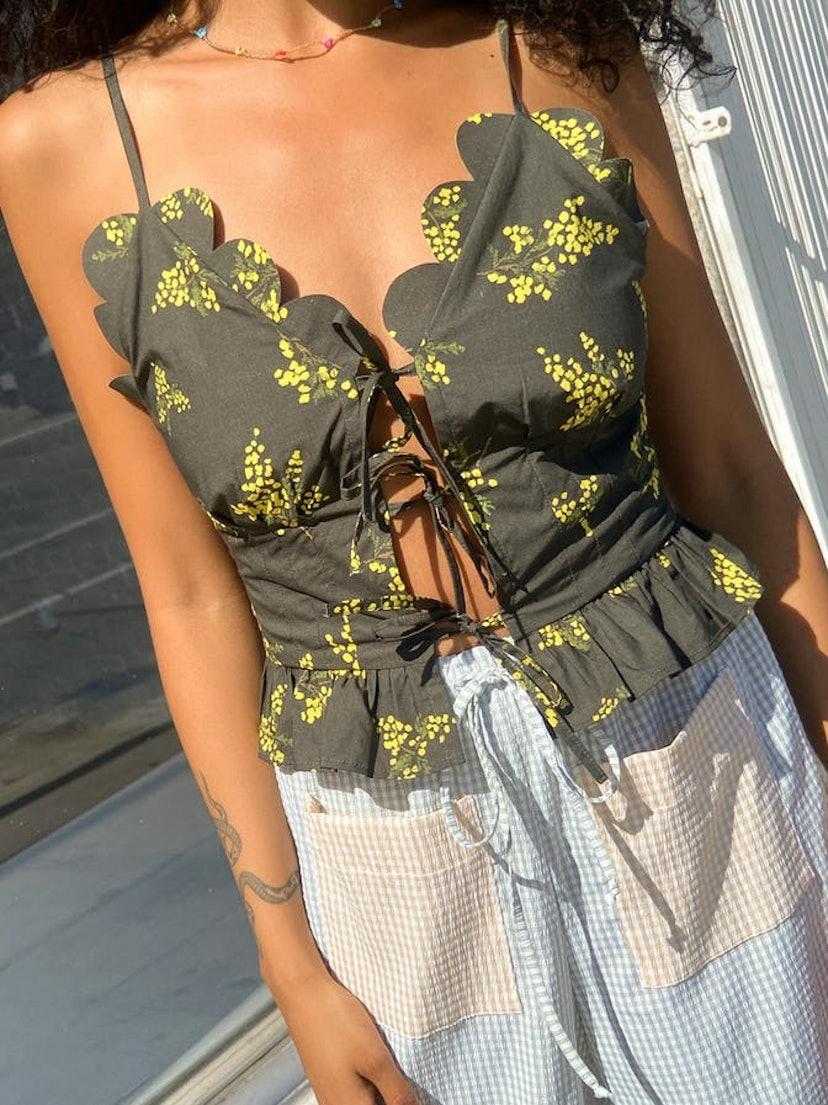 tie-front tops