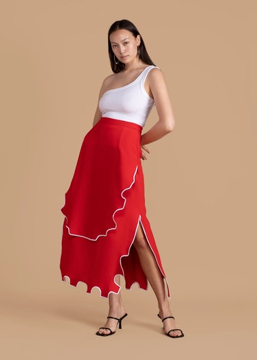 Red Puzzle Skirt