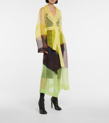 Printed Silk Tulle Coat