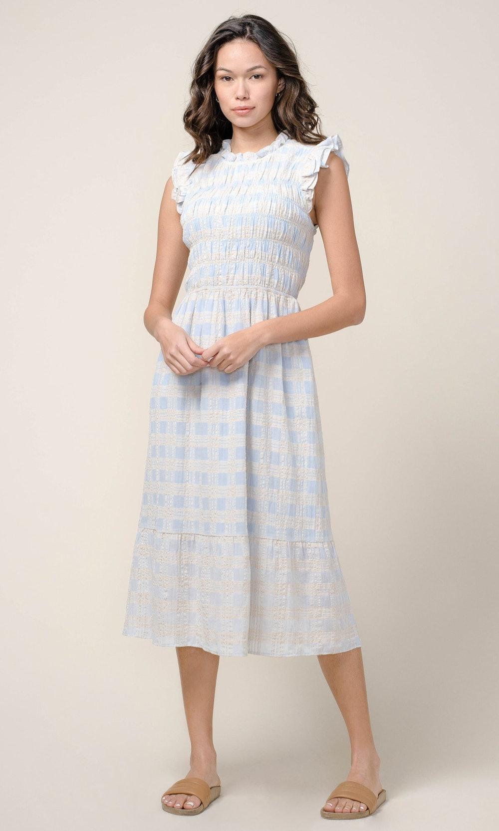 Danila Smocked Midi Dress