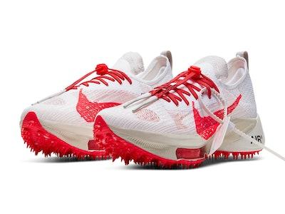 """""""White/Solar Red"""" Off-White x Nike Air Zoom Tempo NEXT%"""