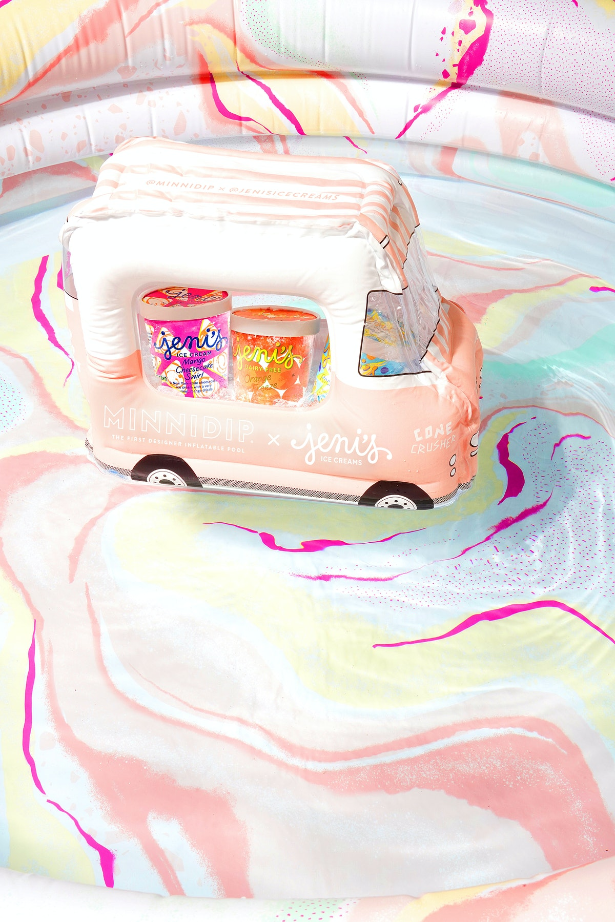 Minnidip and Jeni's released an inflatable pool and float collection.