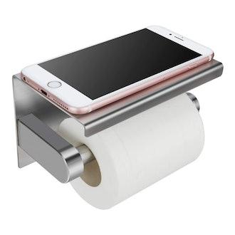 Waydeli Toilet Paper Holder with Phone Shelf