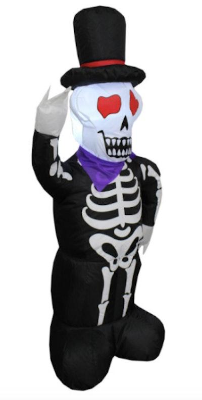 Blow up yard decoration skeleton