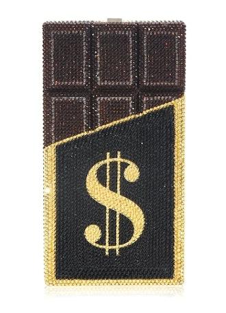Judith Leiber's chocolate bar themed clutch.