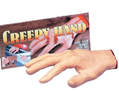Fake severed hand prop