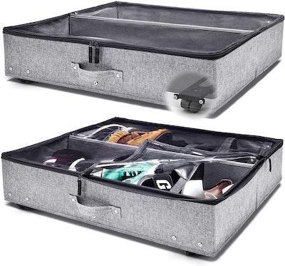 StorageLAB Under Bed Storage with Wheels (2-Pack)