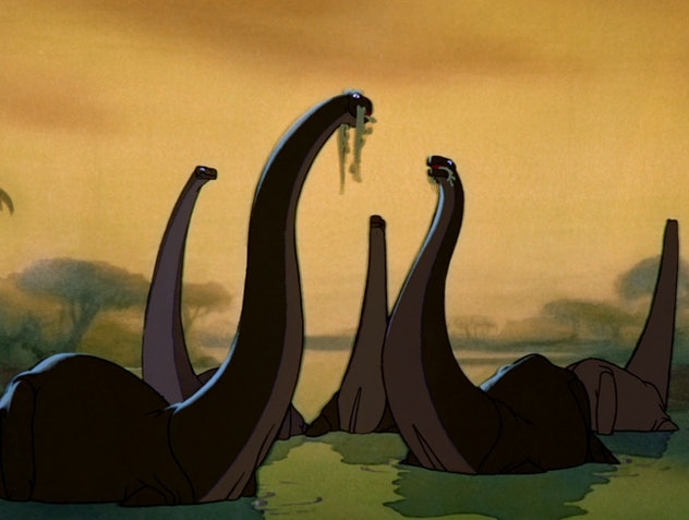 Fantasia is not a dinosaur movie, but there is a memorable dinosaur sequence in it.
