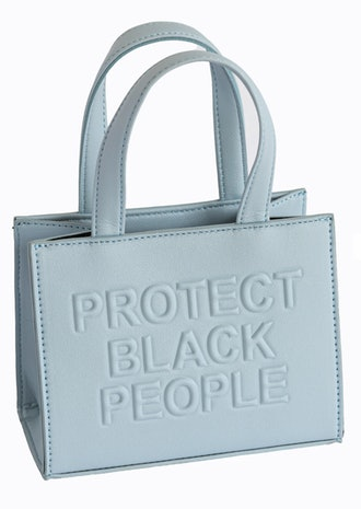 CISE's Protect Black People bag in powder blue.