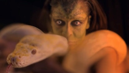 A snake dancer at the Halloween carnival in 'American Horror Stories' Episode 2