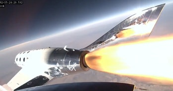 Virgin Galactic's Unity 22 test flight carried founder Richard Branson, three employees, and two pil...