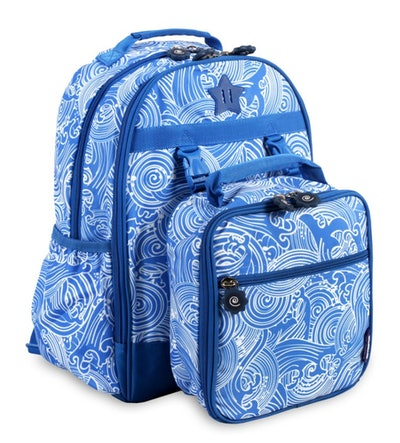 Duet Backpack With Detachable Lunch Bag - Wave