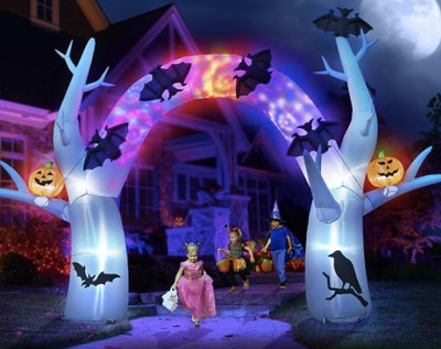 Ghost Halloween glow arch