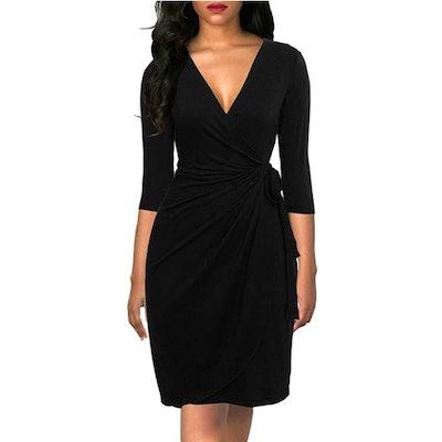 Berydress Black Wrap Dress