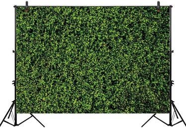 Allenjoy 7x5ft Nature Green Lawn Leaves Backdrop for Photography