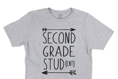 Second grade stud t-shirt