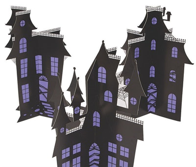 Haunted house tabletop centerpiece