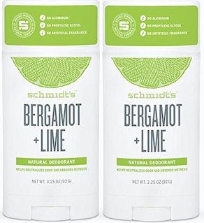 Schmidt's Deodorant Stick Bergamot + Lime (2-Pack)