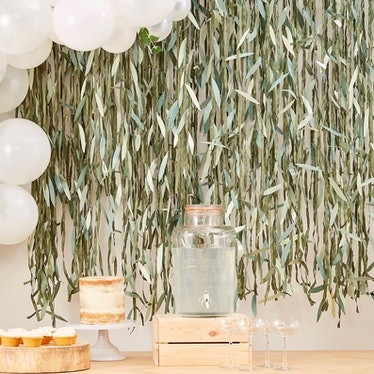 Artificial Willow Foliage Backdrop
