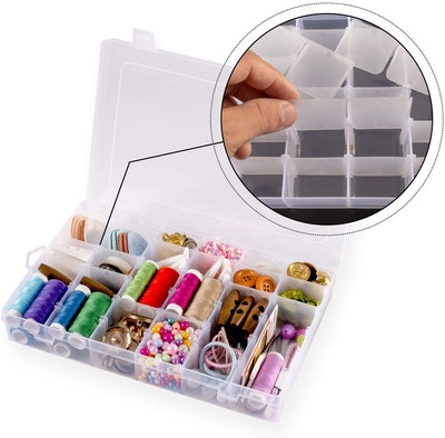 Jewelry Storage Box with Adjustable Dividers