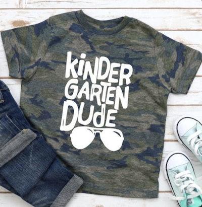 Kindergarten dude t-shirt