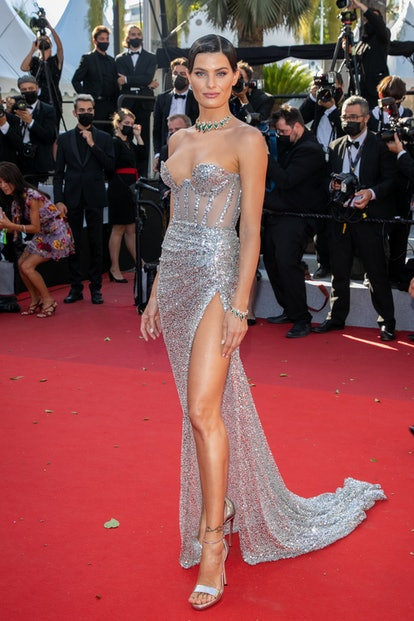 """Model Isabeli Fontana attends the """"Aline, The Voice Of Love"""" screening during the 74th annual Cannes Film Festival on July 13, 2021 in Cannes, France."""