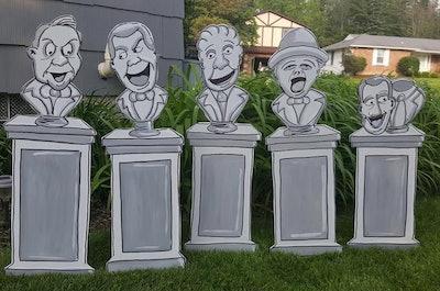 Haunted statues