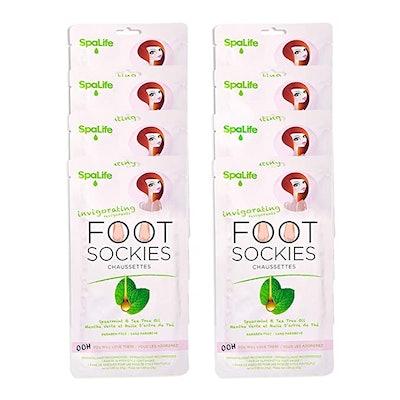 SpaLife Invigorating Spearmint & Tea Tree Oil Foot Sockies (8 Pairs)