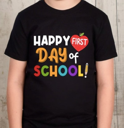 Happy first day of school shirt