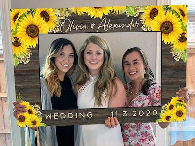 sunflower photo prop frame
