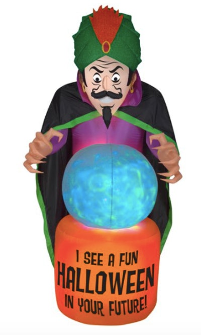Blow up fortune teller yard decoration