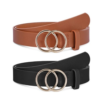 SANSTHS Double O-Ring Buckle Belt (2-Pack)