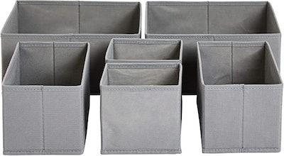 Cloth Drawer Storage Organizer Boxes (Set of 6)
