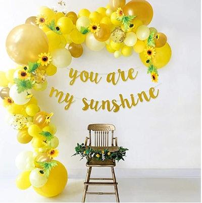 sunflower balloon display