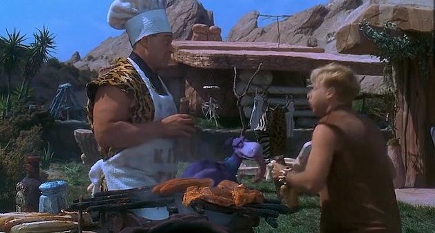 The Flintstones stars John Goodman, Rick Moranis, Rosie O'Donnell, and Elizabeth Perkins.