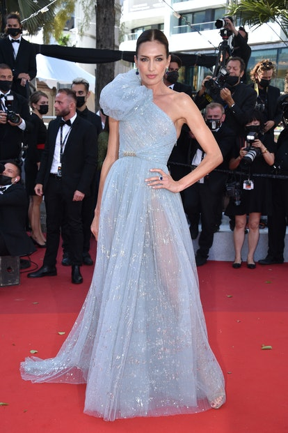 """Nieves Alvarez attends the """"Aline, The Voice Of Love"""" screening during the 74th annual Cannes Film Festival on July 13, 2021 in Cannes, France."""