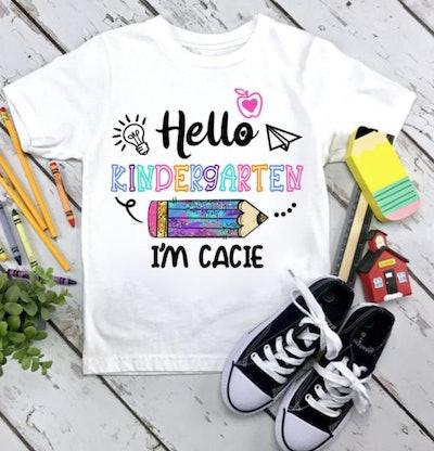 Hello Kindergarten t-shirt
