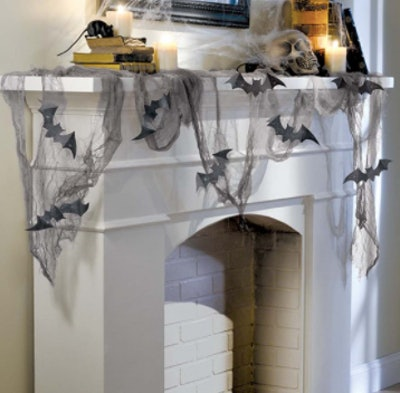 mantle bat web decoration