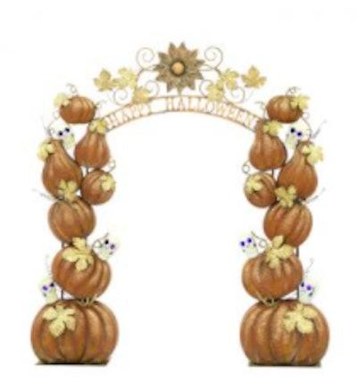 Metal pumpkin art decoration