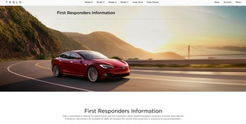 It's difficult to extinguish fires caused by electric car batteries, so Tesla offers manuals to fire...