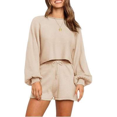 ZESICA Knit Outfit Set (2 Pieces)
