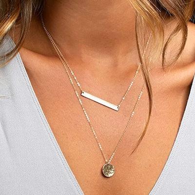 Turandoss Layered Choker Necklace (3 Pieces)