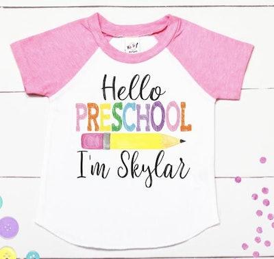 Personalized preschool t-shirt