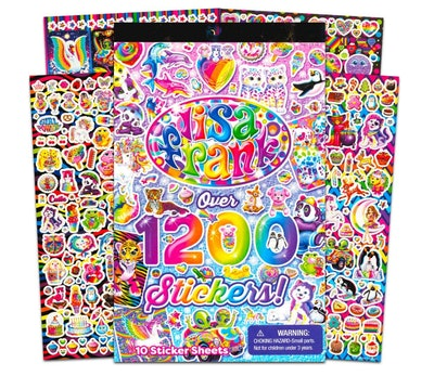 Lisa Frank 1200 Stickers Tablet Book