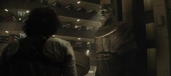 Kang statue at the end of Loki Episode 6