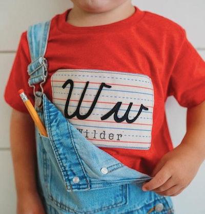 Cursive t-shirt for kid