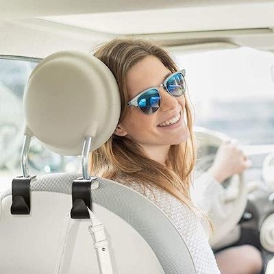 HOUSE DAY Car Seat Headrest Hooks (4-Pack)