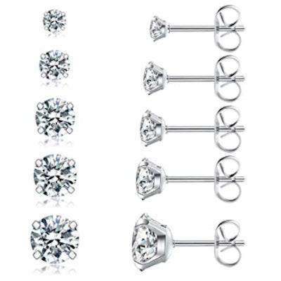 Wssxc Stud Earrings (5 Pairs)